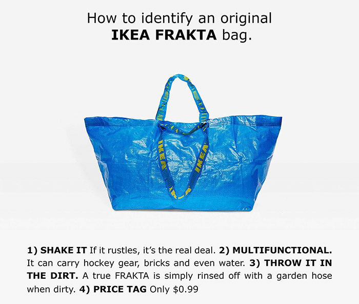 b022f108d6 Well now everybody seems to be jumping on the idea of turning the furniture  giant's famous blue bag into a must-have fashion accessory.