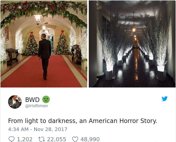 Reactions To Creepy White House Christmas Decorations